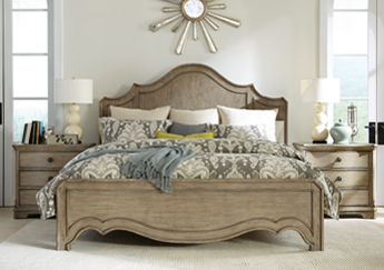 215 / Corinne Collection Curved Bed (K)